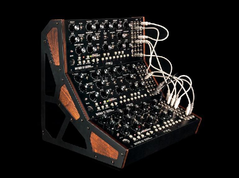 Moog Mother-32 in a rack.