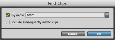 Shift-Command-F to open the Find Clips window.