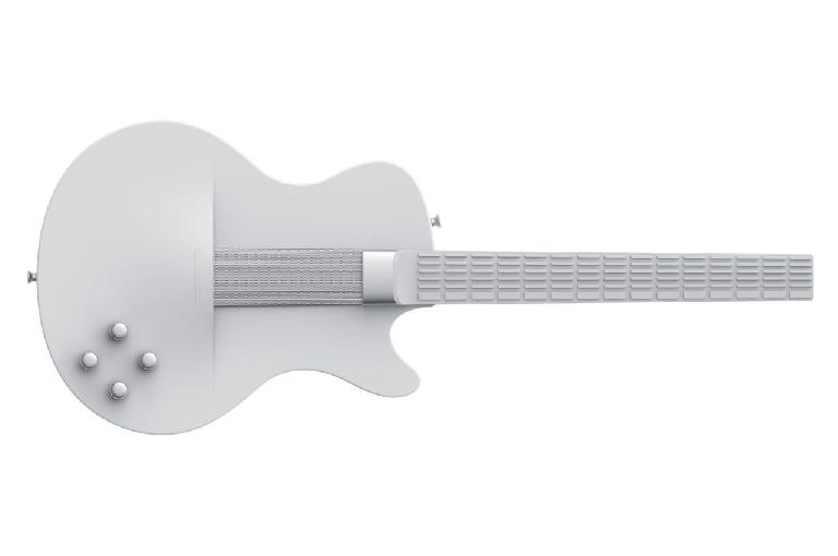 MI Guitar in white.