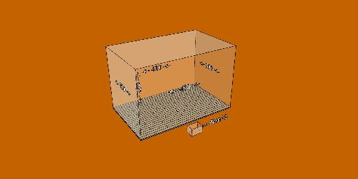Fig 4: Any room measuring less than these dimensions is considered small acoustically.