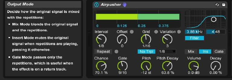 beatrepeat output modes
