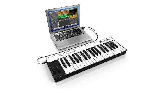 MacBook Pro connected to iRig Keys Pro