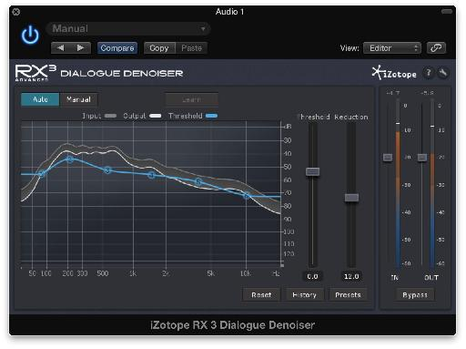 iZotope's RX3 Dialogue Denoiser can learn noise prints from audio and help clean it up.