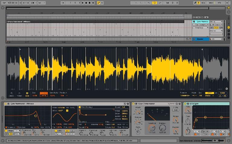 The redesigned Simpler in Ableton Live 9.5