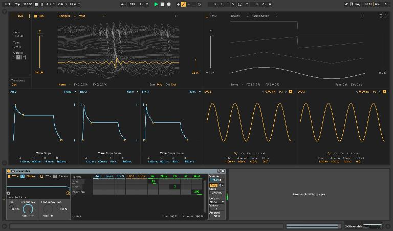 Single Wavetable without any modulation applied; static position at 23%