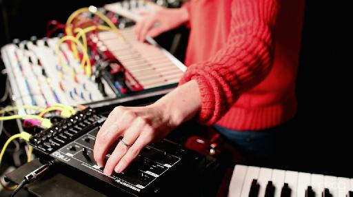Kaitlyn Aurelia Smith at Moog Sound Lab performing with her Buchla Music Easel and various Moog gear.