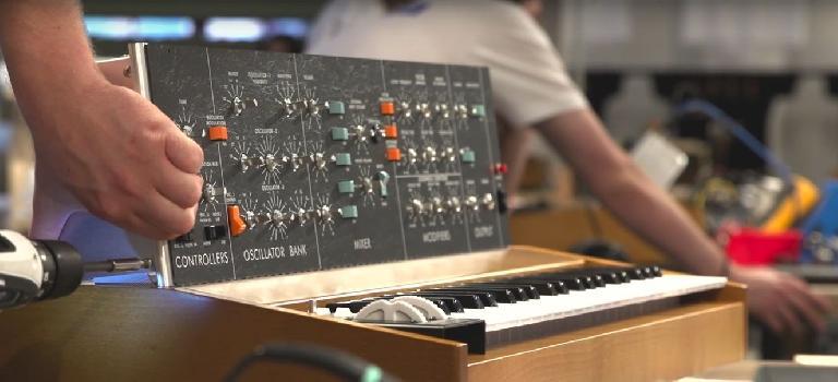 Moog Model D reissue in Moog Pop-Up Factory.