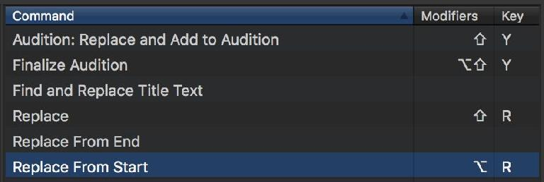 Replace from Start is the magic command you probably want, but you can Replace from End or use Auditions if you prefer