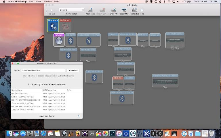 Audio/MIDI setup on Mac OS X