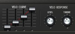 Controlling velocity response.