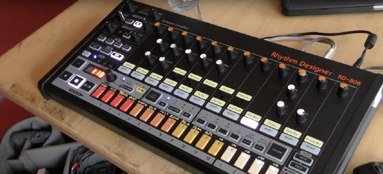 Behringer RD-808 Rhythm Designer analog drum machine.