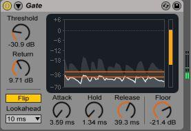gate settings clean audio