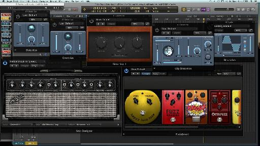 Logic Pro X's collection of distortion plug-ins.