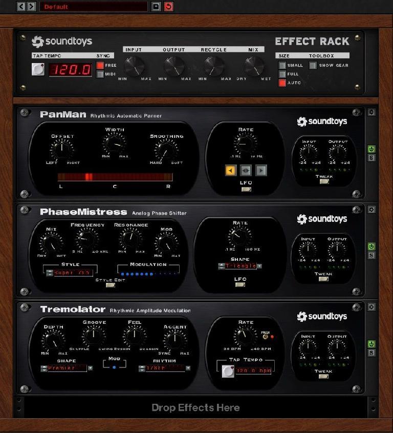 Soundtoys PanMan, PhaseMistress & Tremolator