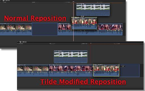 Normal reposition vs Tilder modified reposition.