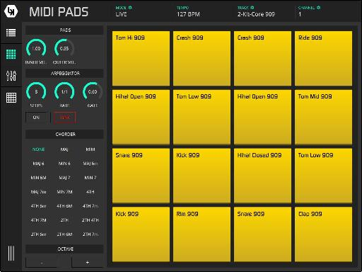 Use MIDI pads in Live or generic MIDI modes