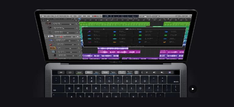 13-inch 2018 MacBook Pro running Logic Pro X.