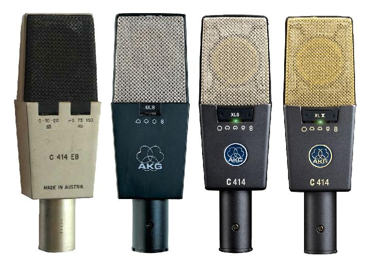 Fig 5 Various versions of the AKG 414