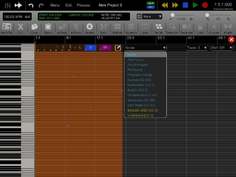 A fully featured piano roll MIDI editor.