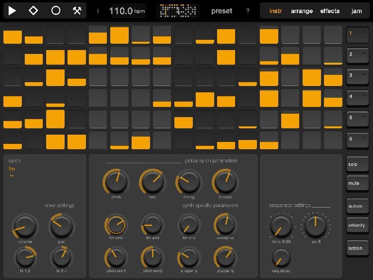 Elastic Drums main screen.