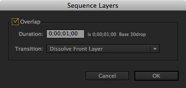 Sequence the layers
