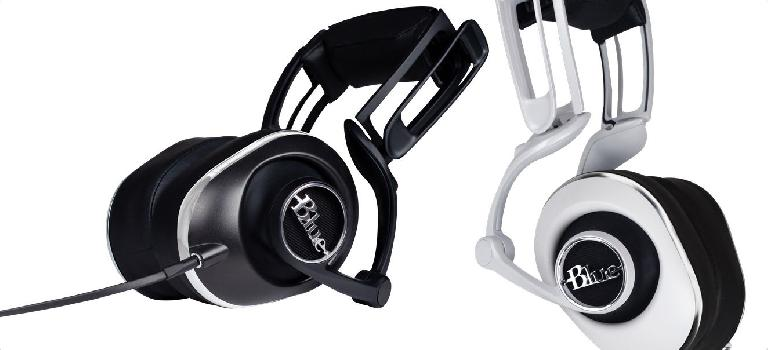 Blue Lola headphones are available in white and black.