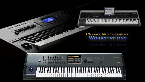 A Selection of MIDI Workstations from the MIDI 101 tutorial