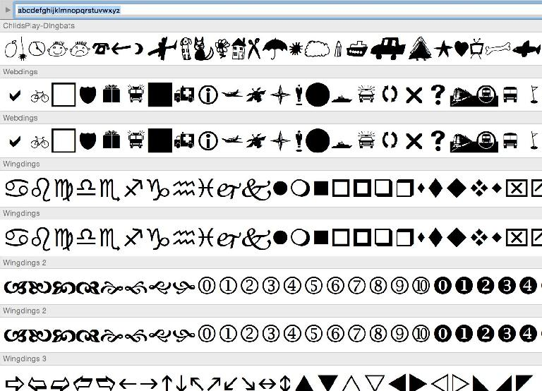 Built-in or third-party, dingbat fonts give you many options.