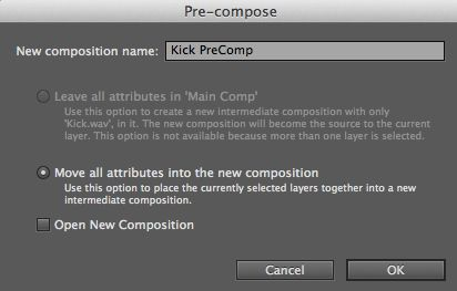 Pre-compose the layers