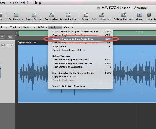 Saving the edited audio