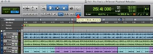 The 'Insertion Follows Playback' Button.