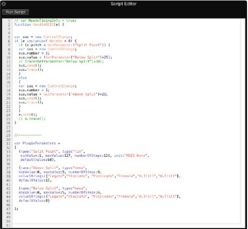 Figure 2: some of my custom code for the EXS 24 PolyArticulation Split Script