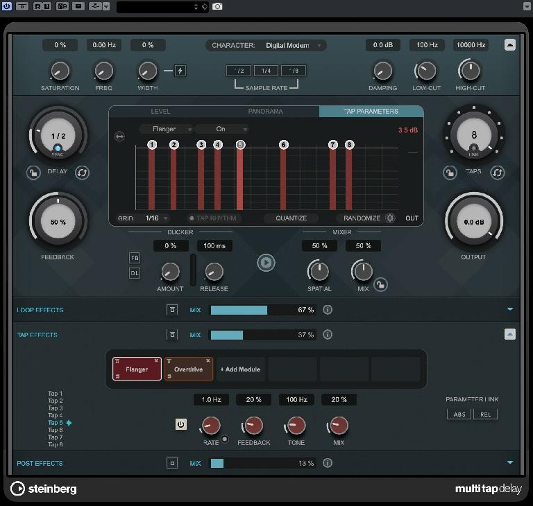 Cubase 10.5: MultiTap Delay