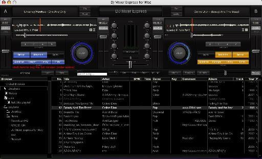 DJ Mixer Express GUI.