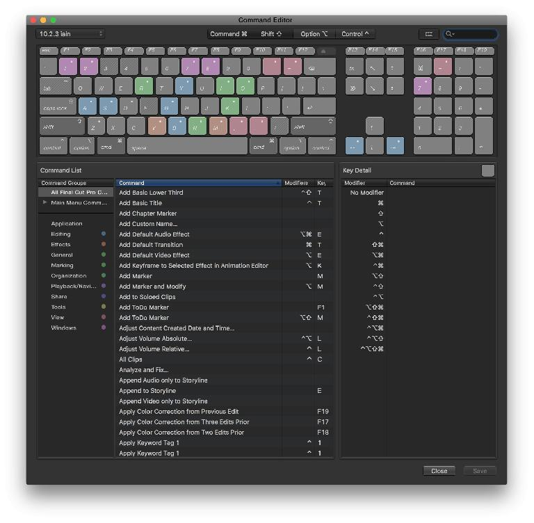 This dialog lets you discover shortcuts and create new ones