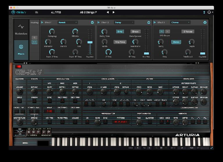 Arturia OB-Xa control interface