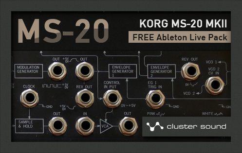 Cluster Sound MS-20 Live Pack