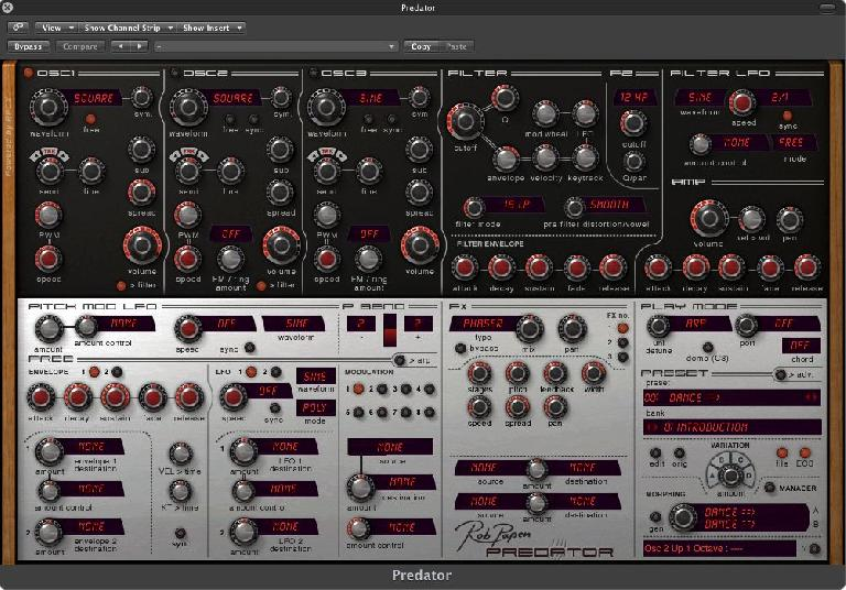 Figure 1: the Rob Papen Predator synth. A killer synth and a personal fave.