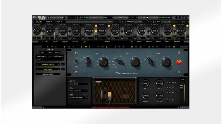 Antelope Audio Orion Studio software.