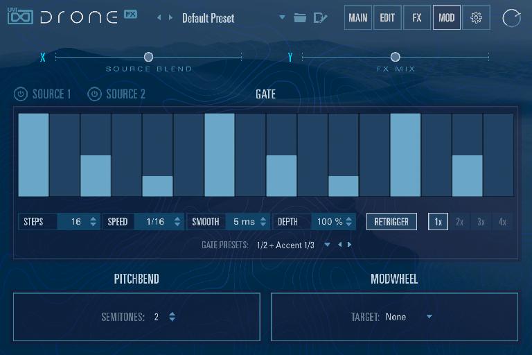 UVI Drone modulation page
