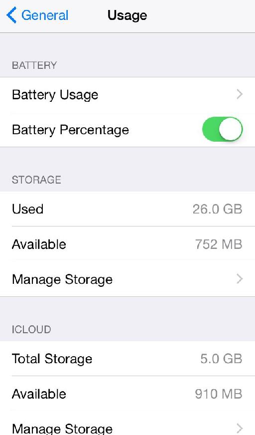 Ah, how little space I have free on my iPhone!