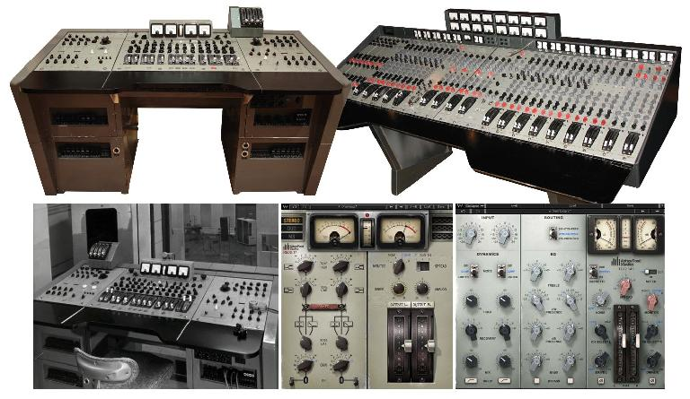 EMI's REDD and TG12345 consoles and Waves' software versions