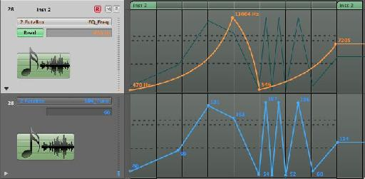 Adding automation in Logic Pro.