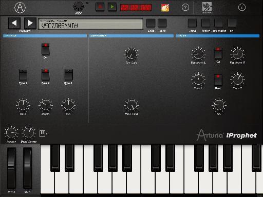 iProphet for iPad Effects screen.