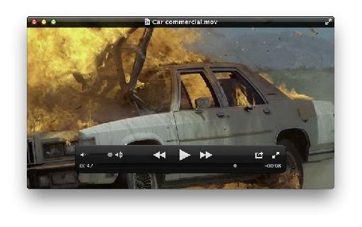 In QuickTime Player find the point in the movie from which you wish to create an image.