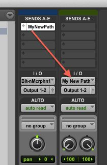 Routing from send to Aux Input track complete.