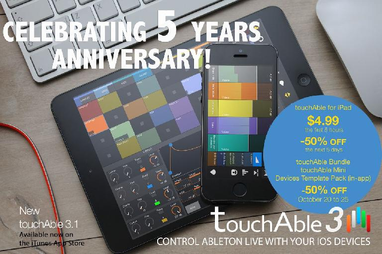 Celebrate the 5 Year Anniversary with touchAble 3.1