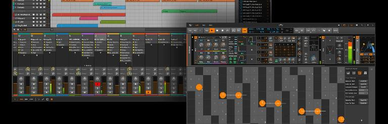 Bitwig 2.2 display content