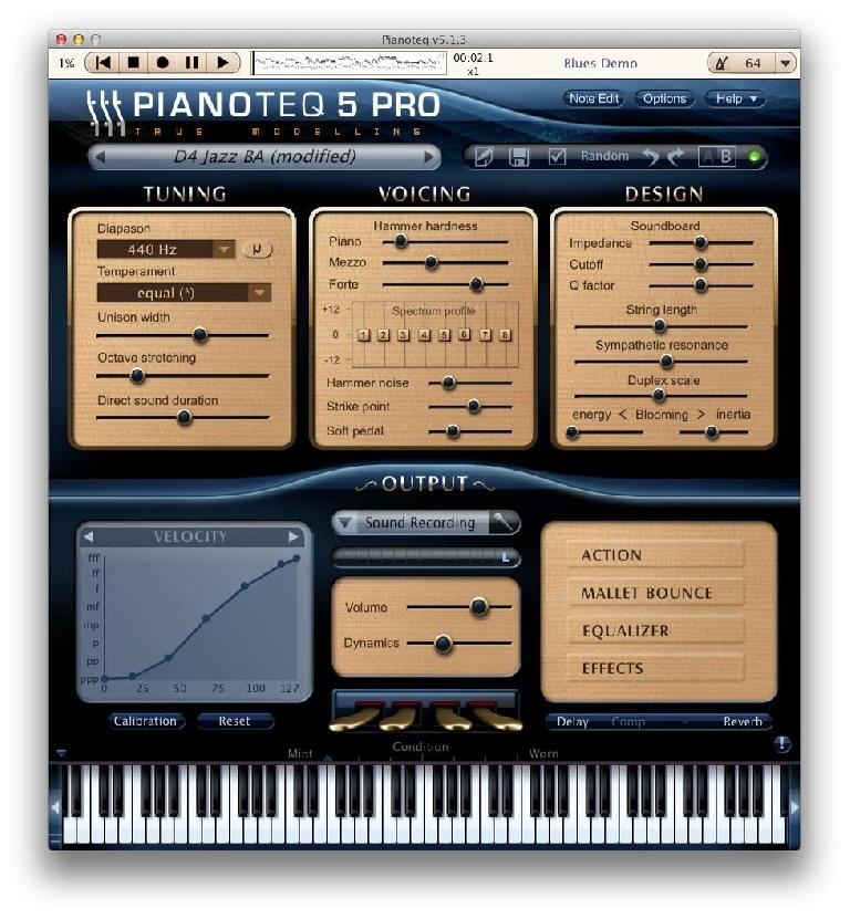 Pianoteq is a physical modelled piano plug-in.