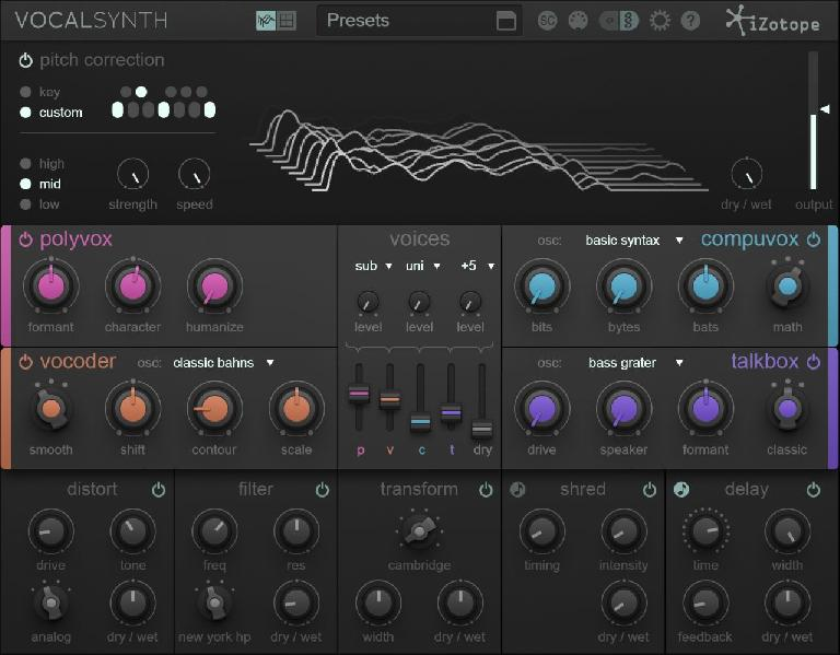 There really isn't an all in one solution like VocalSynth available for producers.